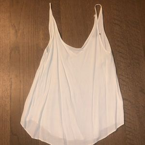 TOPSHOP White Flowy Going Out Tabk (size US 10)